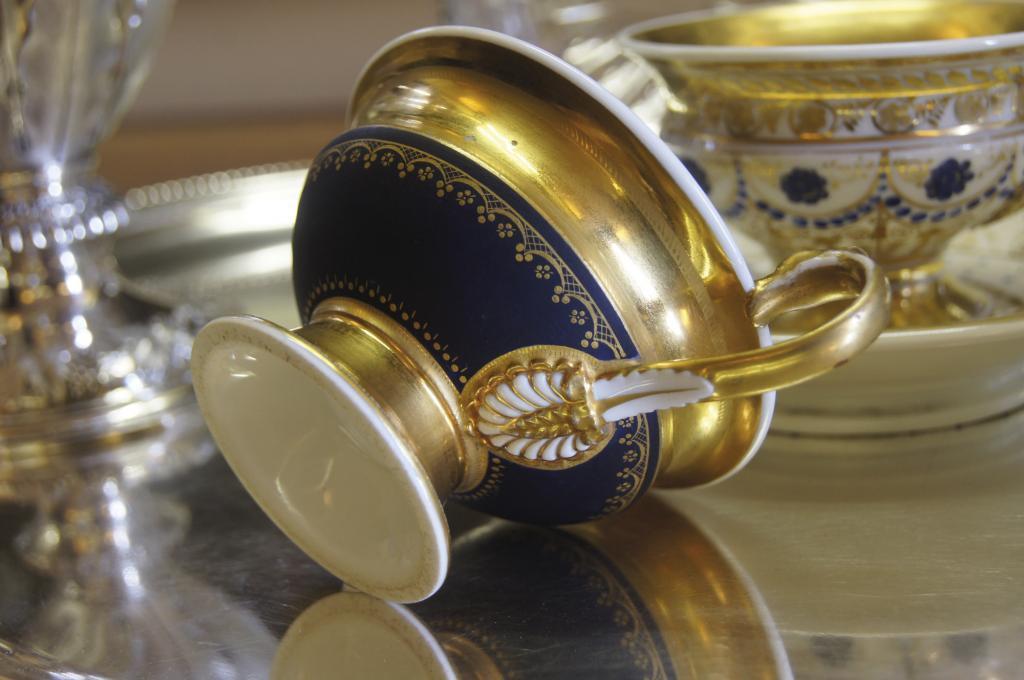 Grande tasse à café en porcelaine