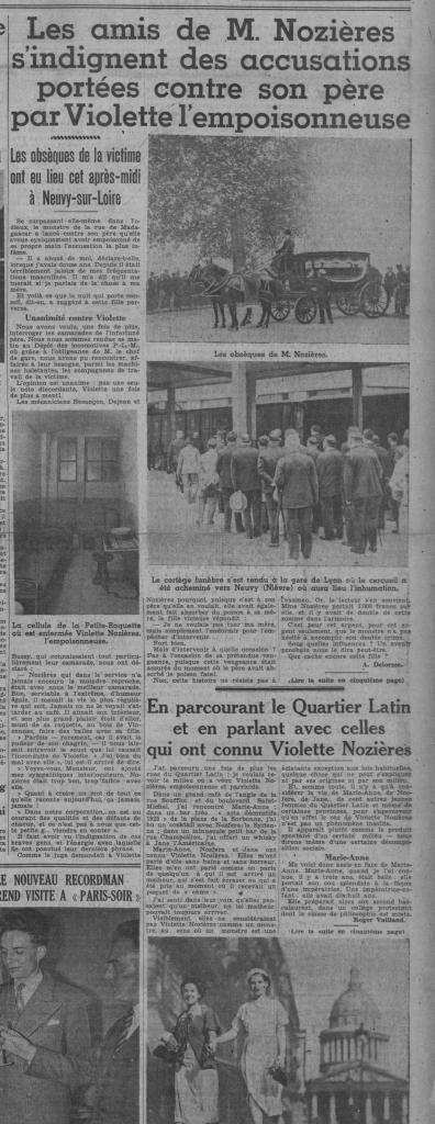 Article journal Paris-Soir Violette Nozières
