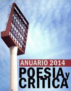 Couverture de l'annuaire Poesia et Critica
