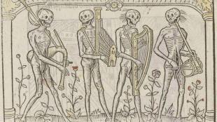 squelettes musiciens danse