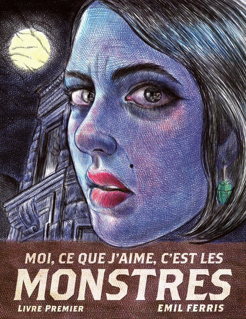 couverture dessin femme nuit