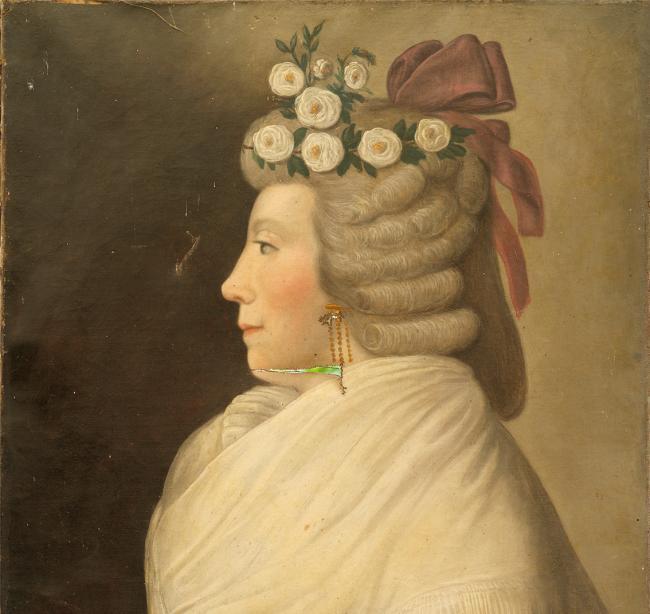 portrait peinture tableau duchesse femme