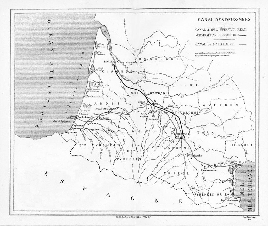 carte tracé du canal