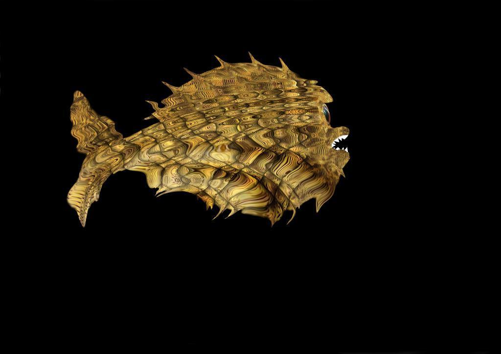 poisson profondeurs jaune