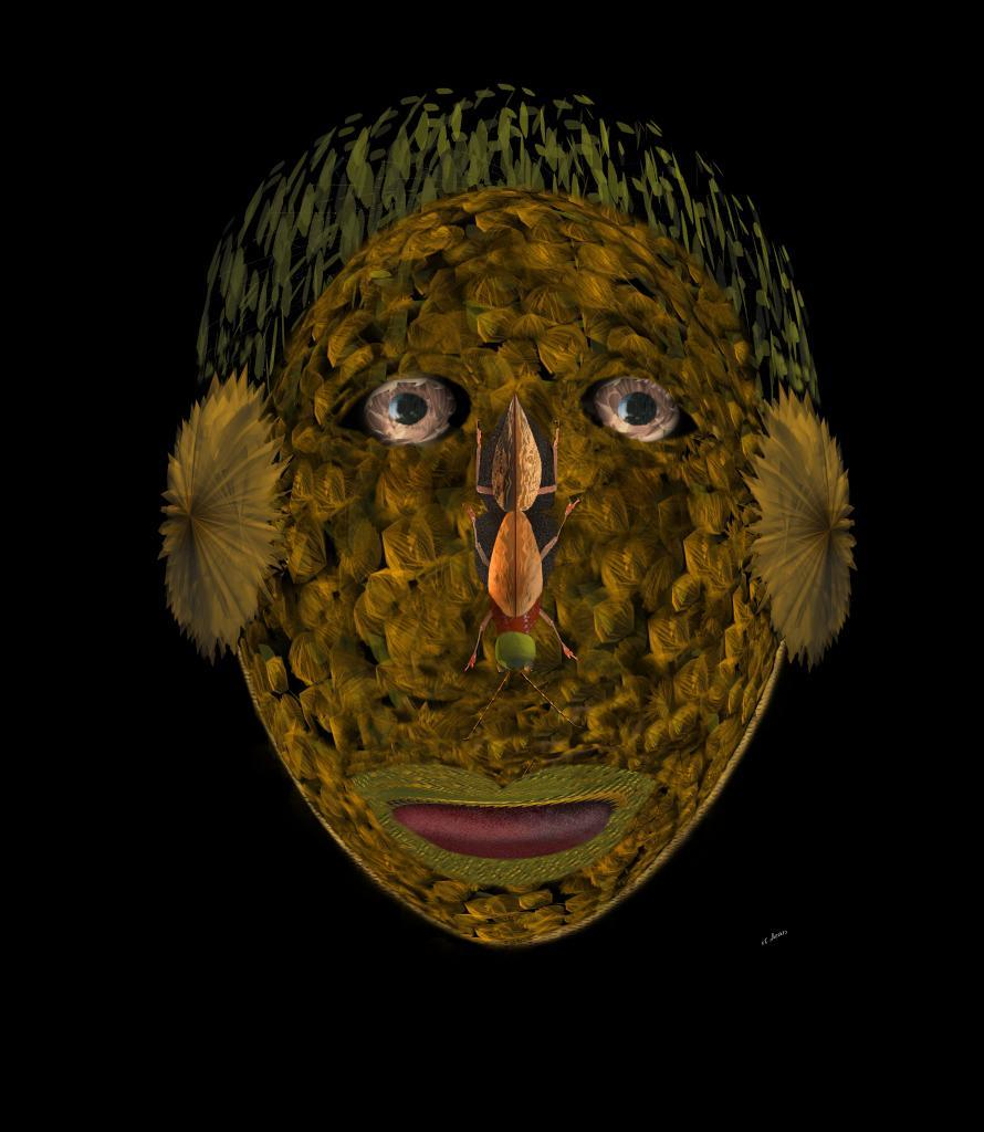 masque végétal insecte humain