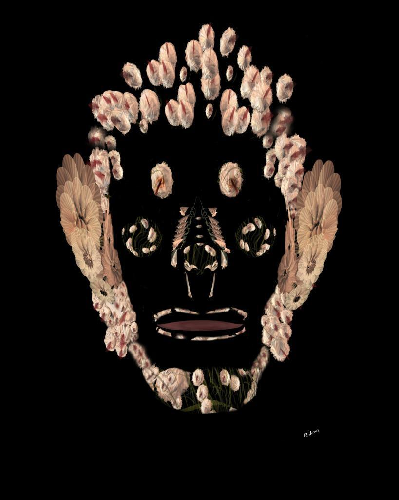visage végétal homme