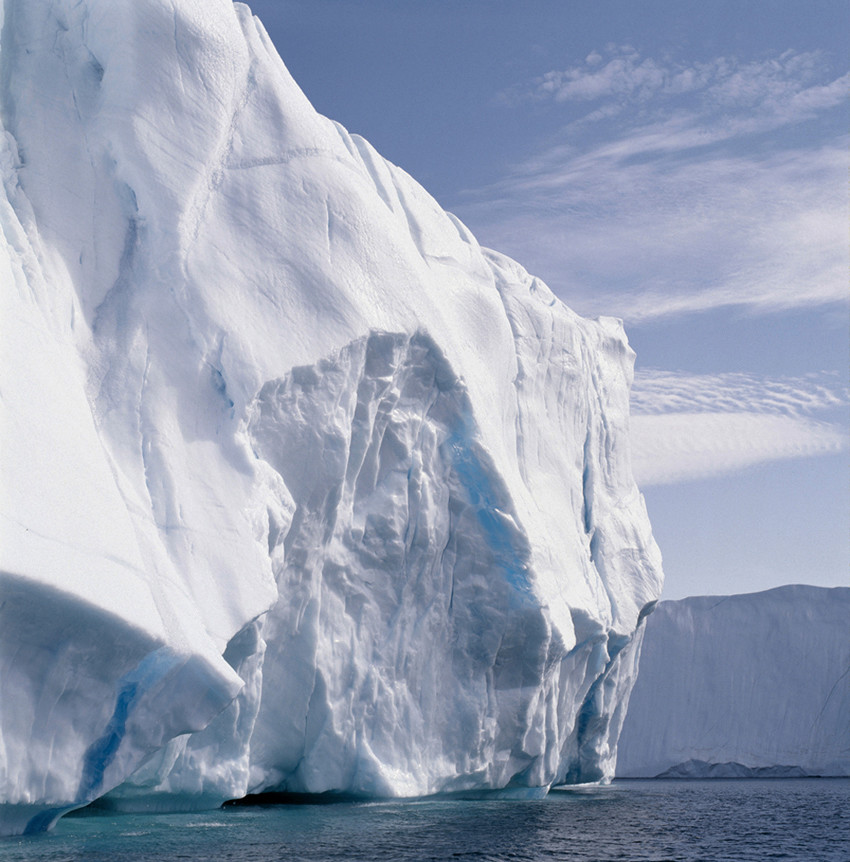 iceberg mer nuage blanc glace